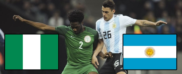 26/06/2018 Nigeria vs Argentina <small>World Cup 2018 - Group Stages</small>