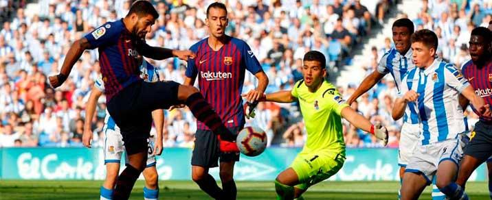 20/04/2019 FC Barcelona vs Real Sociedad <small>Spanish League</small>