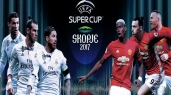 Uefa Super Cup: Real Madrid vs Manchester United.