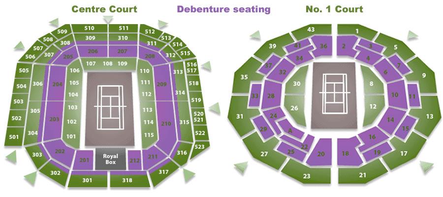 Imagini pentru All England Lawn Tennis and Croquet Club, London stadium maps