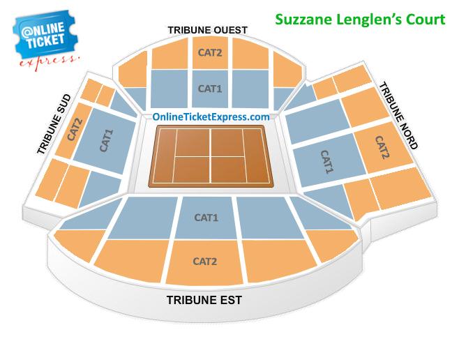 Roland Garros Location In Paris Map.Buy French Open Roland Garros 1st Round Suzanne Lenglen Tickets